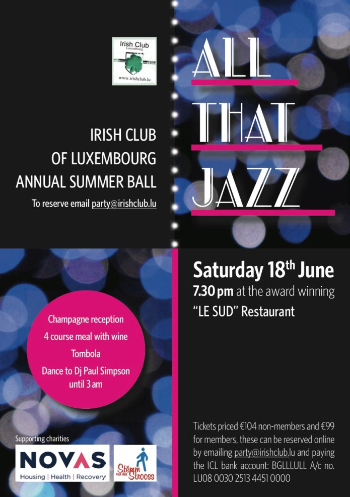 All That Jazz Summer Ball poster
