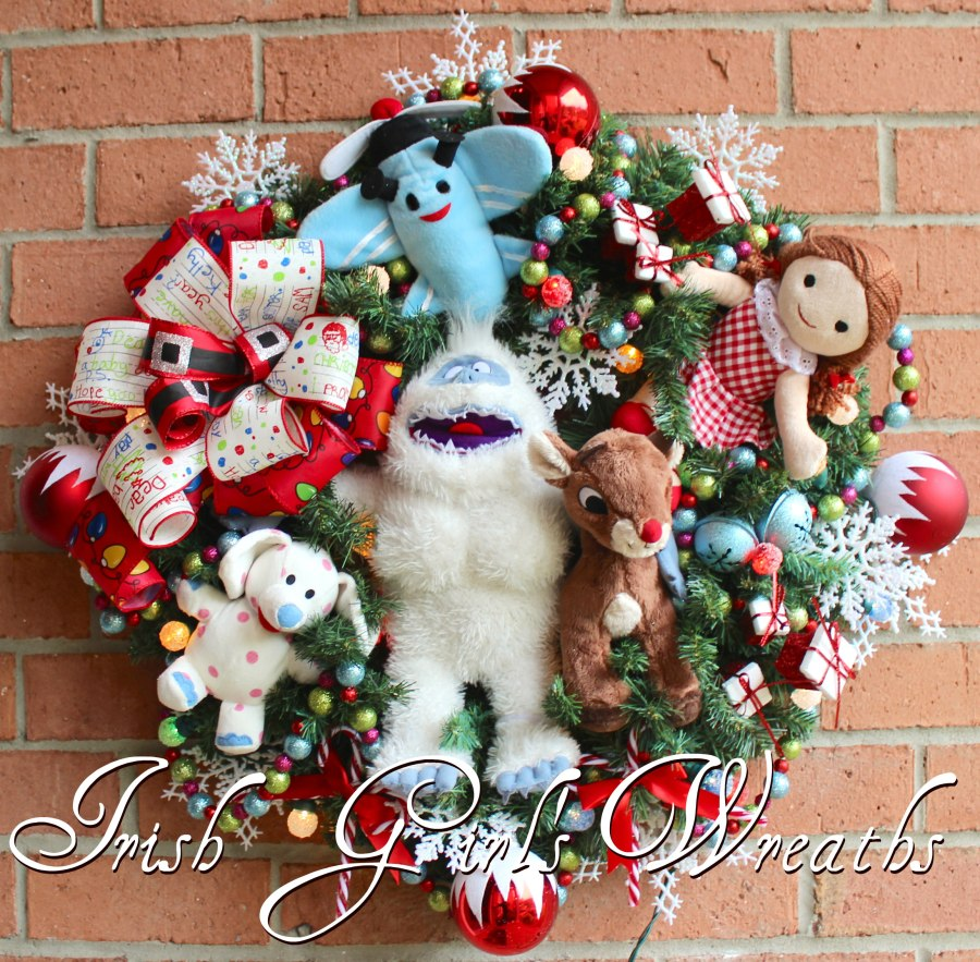 Bumble Snow Monster and Misfit Toys Wreath