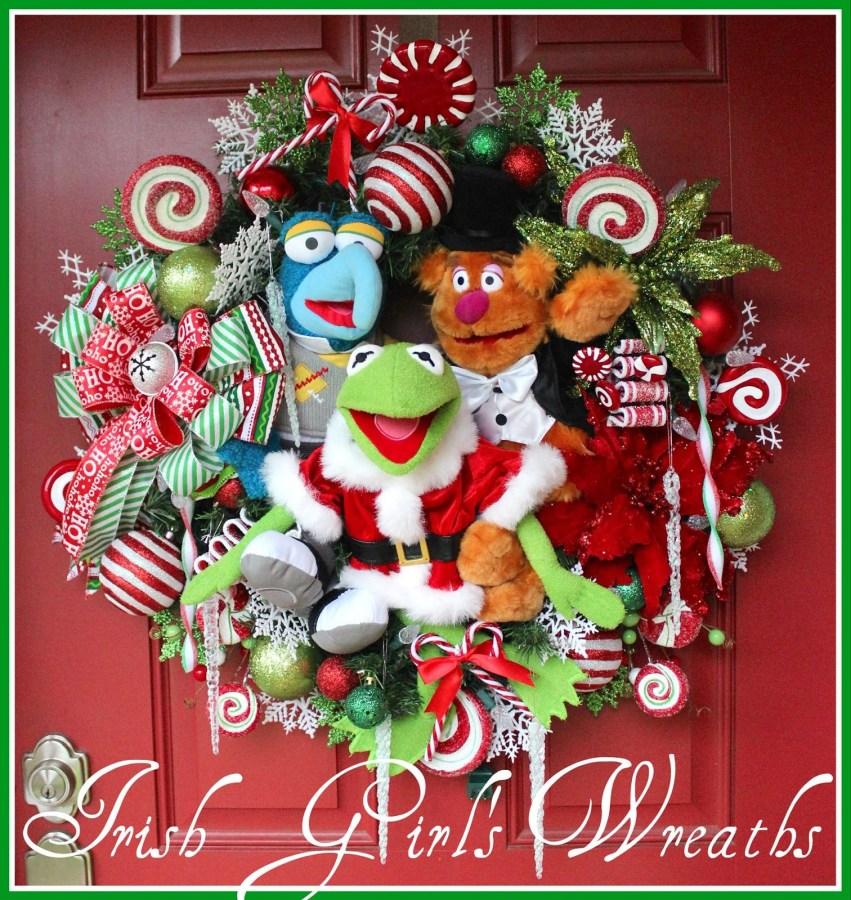 Custom Muppet merry Christmas Wreath