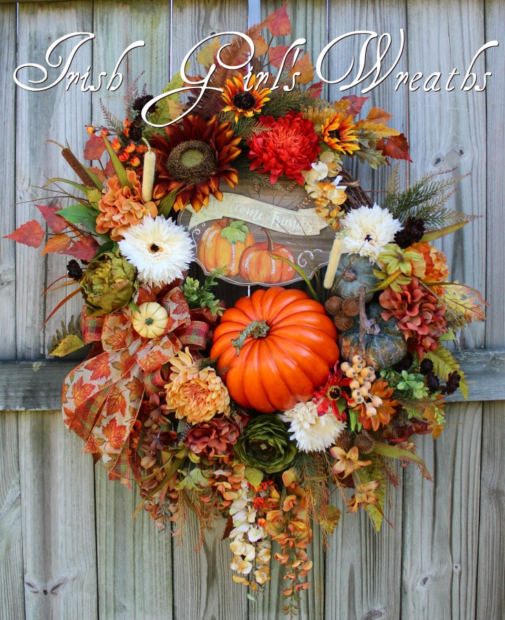 Welcome Friends Deluxe Fall Sunflower XXL Wreath