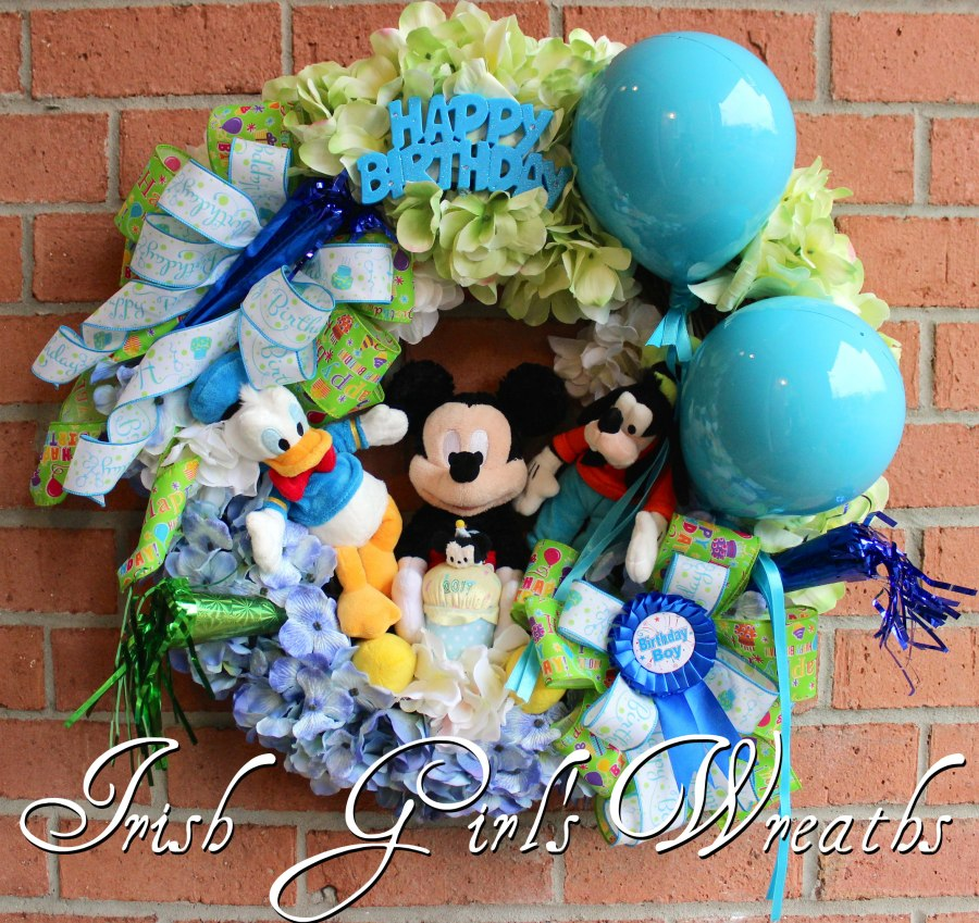 Mickey Mouse ClubHouse Boy Happy Birthday Wreath