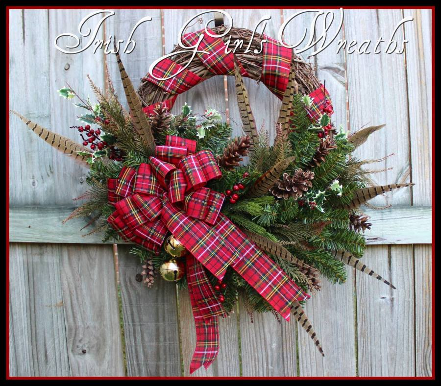 Rustic Scottish Highland Christmas Wreath