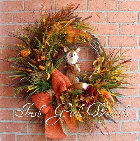 Hidden Fox in the Autumn Field Wreath-2