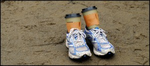 runners with coffee in them