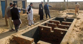 Construction of Waste Water Treatment Unit (WWTU) at Boys School in Barakai Afghan refugees Camp