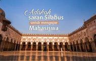 ADAKAH SARAN SILABUS UNTUK MENGAJAR MAHASISWA?