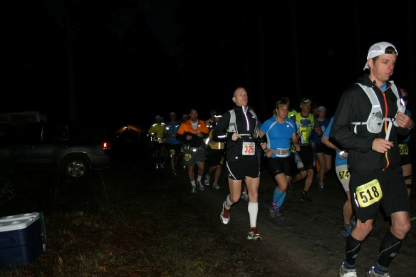 6AM start.  I'm in the yellow jacket on the far left