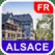 Elsass, Frankreich Karte - PLACE STARS