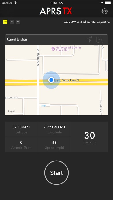 APRS TX Screenshot