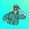 Dauletkhan Sultangazy - Statue of Liberty Stickers アートワーク