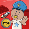 Sarawut Pholsud - 交通警察の男の車の子供のゲーム アートワーク