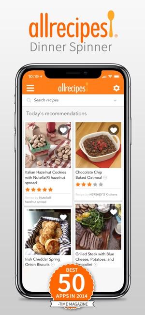 Allrecipes Dinner Spinner on the App Store