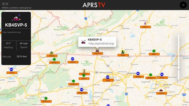 APRS TV Screenshot