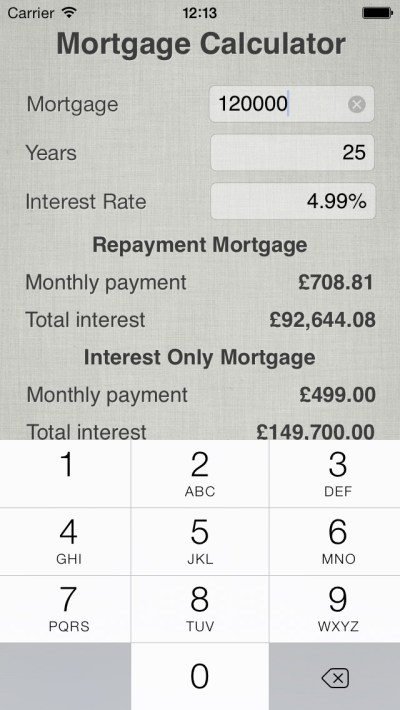 Mortgage Repayment Calculator app: insight & download.