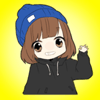 SANSYZBAY OSPANOV - Girl in the Blue Cap - Cute Stickers Pack! アートワーク