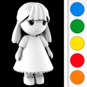 Figuromo Kids : Simply Missy - 3D Coloring Glitter and Sparkle Chibi