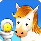 Potty Training:  Learning with the animals, loo