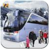 Door to Apps - 冬のドライブ観光バストランスポーターの3Dプロ アートワーク
