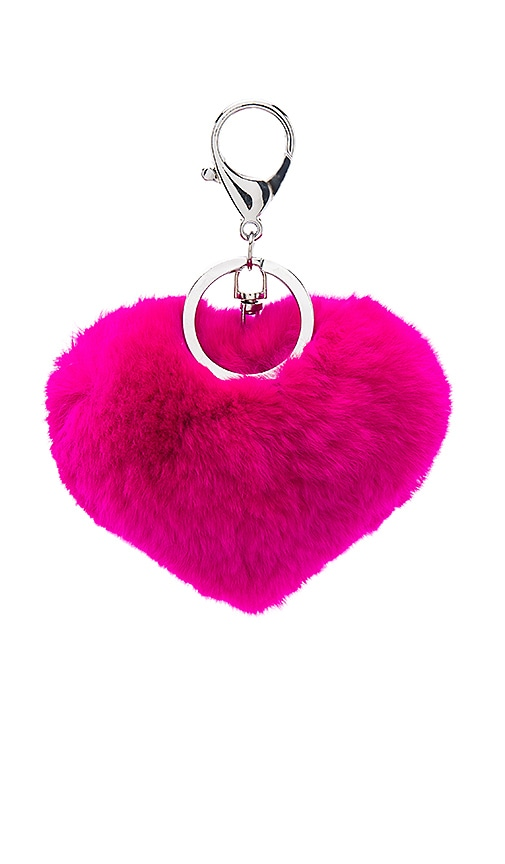 jocelyn Rex Rabbit Heart Keychain in Fuchsia   REVOLVE Rex Rabbit Heart Keychain
