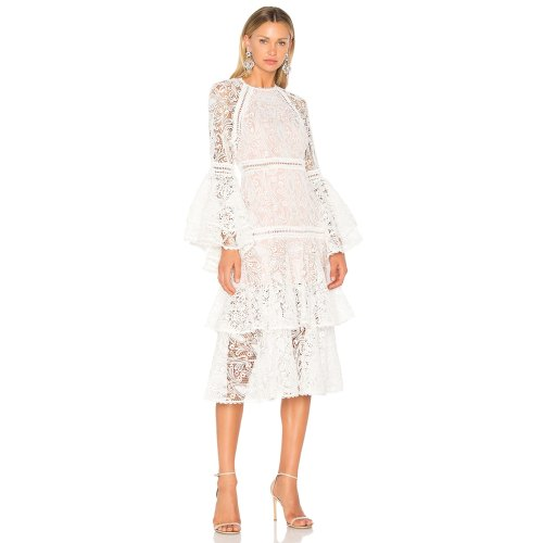 Medium Crop Of White Lace Dresses