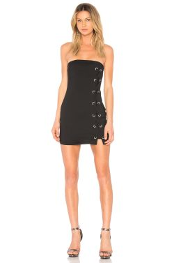 Fancy Black By Tina Lace Up Dress Black Revolve Lace Up Dress Uk Lace Up Dressage Boots Tina Lace Up Dress