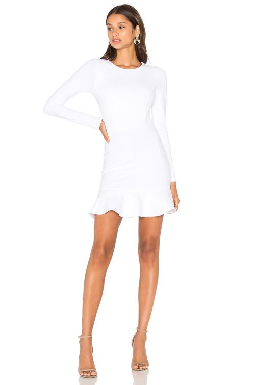 Medium Of Long Sleeve White Dress