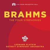Detroit Symphony Orchestra & Leonard Slatkin - Brahms: The Four Symphonies (Live)  artwork