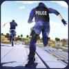 Usman Shiekh - ギャング撮影とスタントゲーム - 市警察チェイスを脱出するために屋上刑事ラン アートワーク