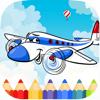 Parinyawat Chaemsiriyanon - Kids-絵画ゲームのための飛行機のぬりえ アートワーク