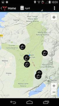 Serengeti Tracker app