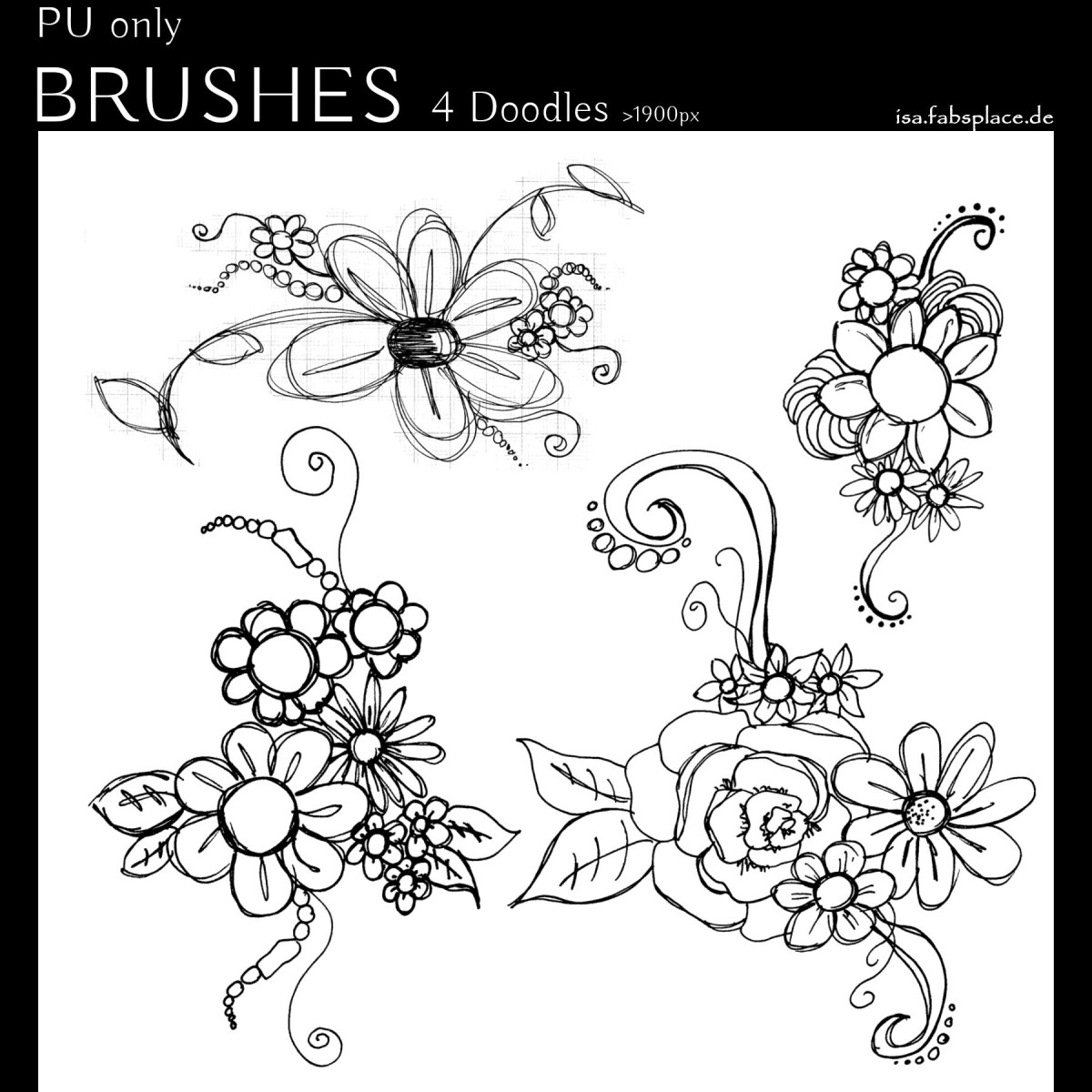 """Brushes: """"Doodle Flowers"""""""