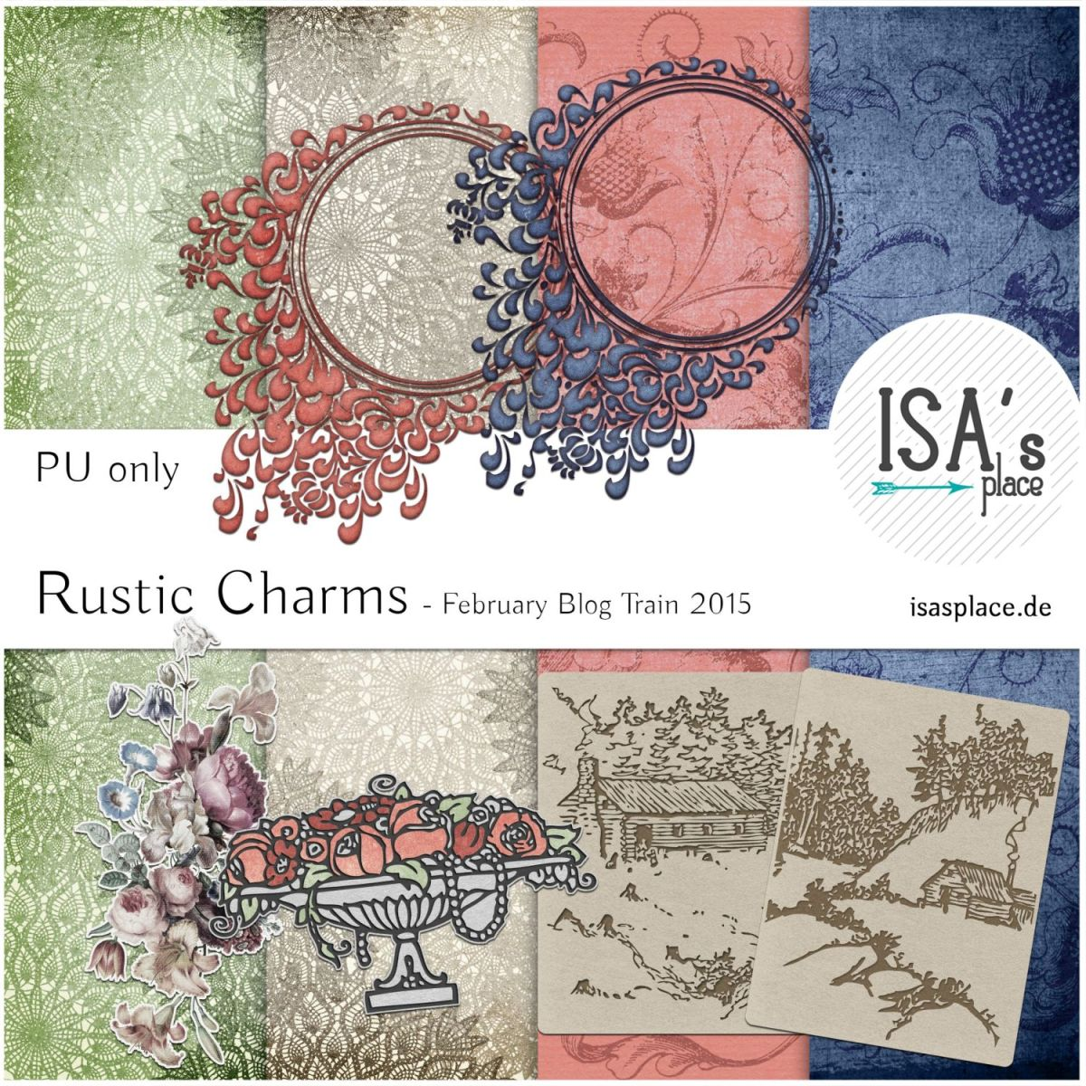 February 2015 Blog Train RUSTIC CHARMS