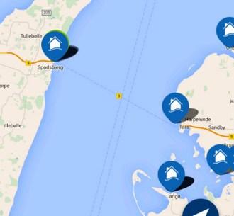 Skærmbillede af tursejler-app
