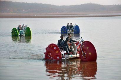 Boat ride at Rawal Lake in Islamabad