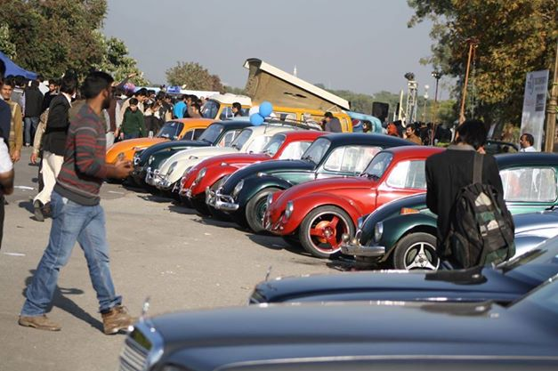 Cars lined up at Islamabad Auto Show 2014