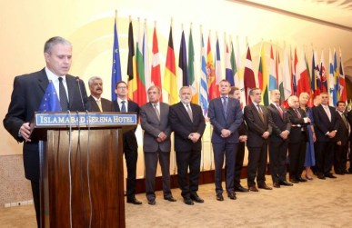 Stefano Gatto, Acting Ambassador of European Union (EU), hosted a reception in Islamabad to mark the Europe Day on Friday, 29 May, 2015
