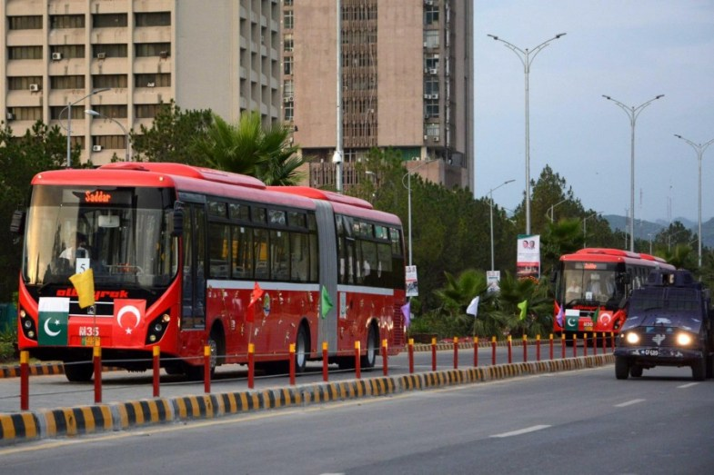 Metro Buses finally hit the roads in Islamabad