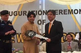 Japanese Ambassador handed over the first fleet of the vehicles to the ministry at the Islamabad Traffic Police (ITP) Headquarters