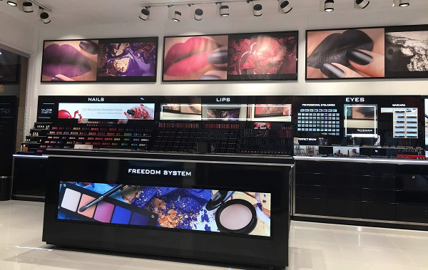 View of Inglot Cosmetics store in Islamabad