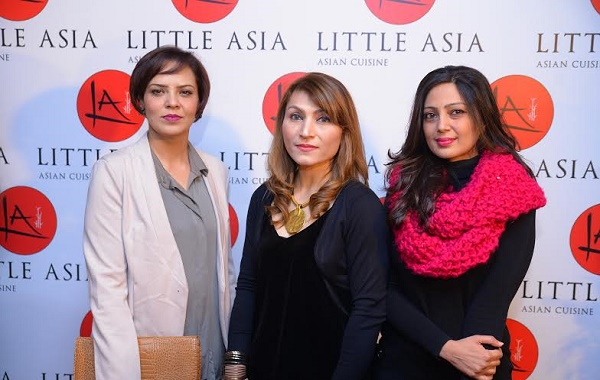 Novera, Laila hasan and Ayesha at the launching ceremony