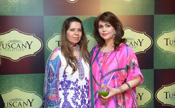 Guests at the launch of Tuscany Courtyard - Italian restaurant in Islamabad.
