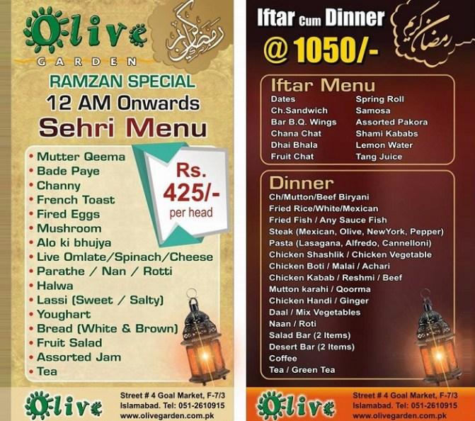 Olive Garden Restaurant Islamabad