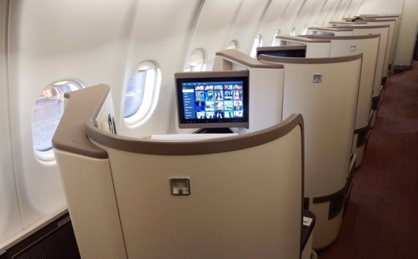 PIA Premier offers flat bed service for business-class passengers.