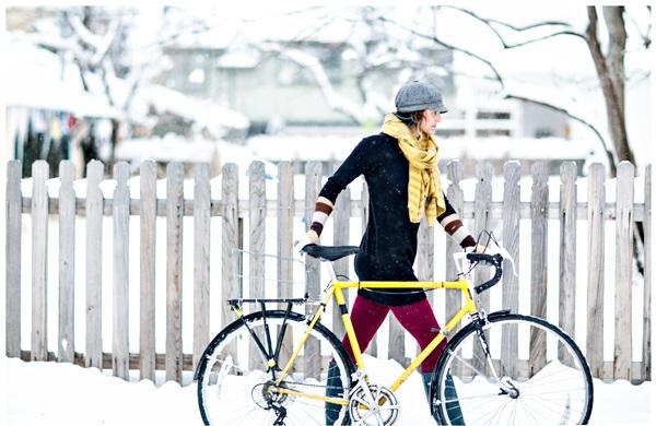 biking in winter
