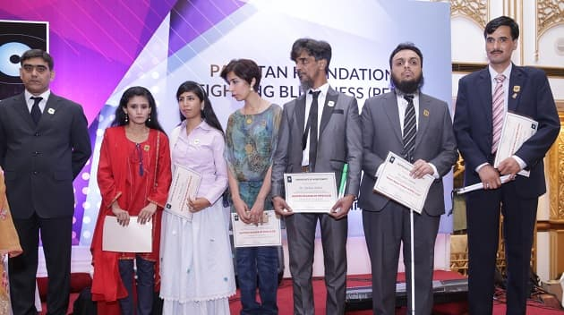 Pakistan's blind artists at Foundation Fighting Blindness event in Islamabad