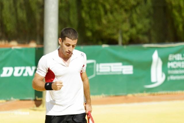 Flavio CIPOLLA celebra la consecución del primer set.