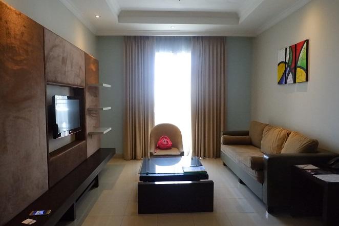 ruang keluarga bellezza suites hotel