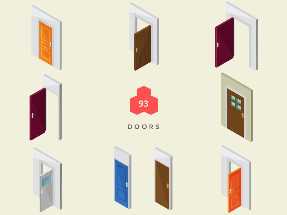 Isometric doors