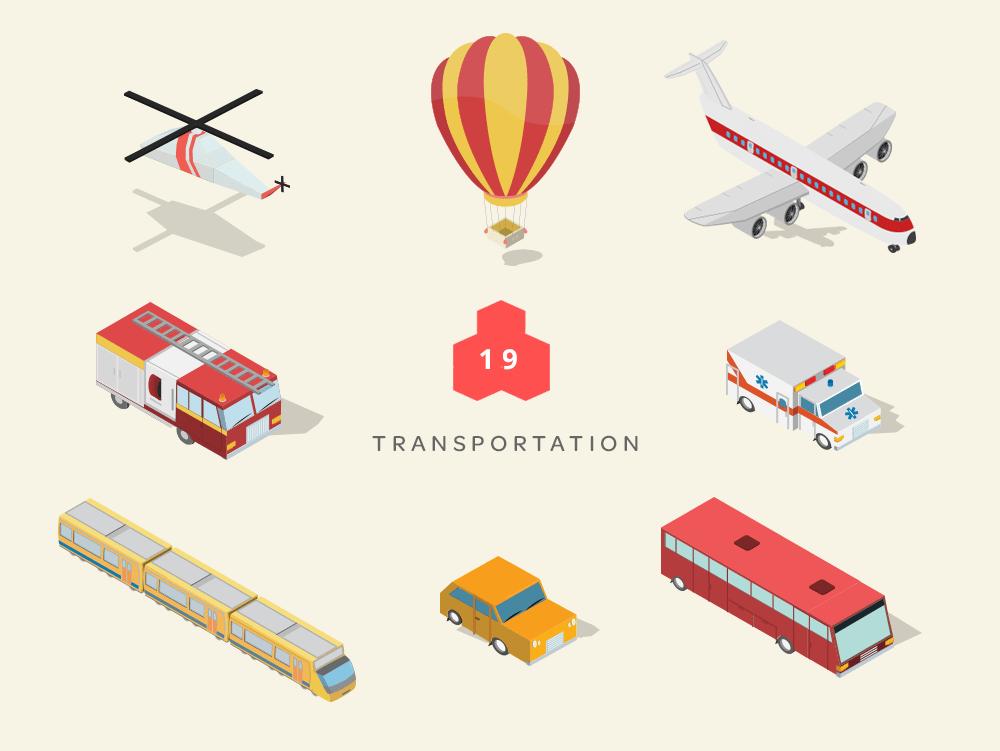 isometric maps transportation