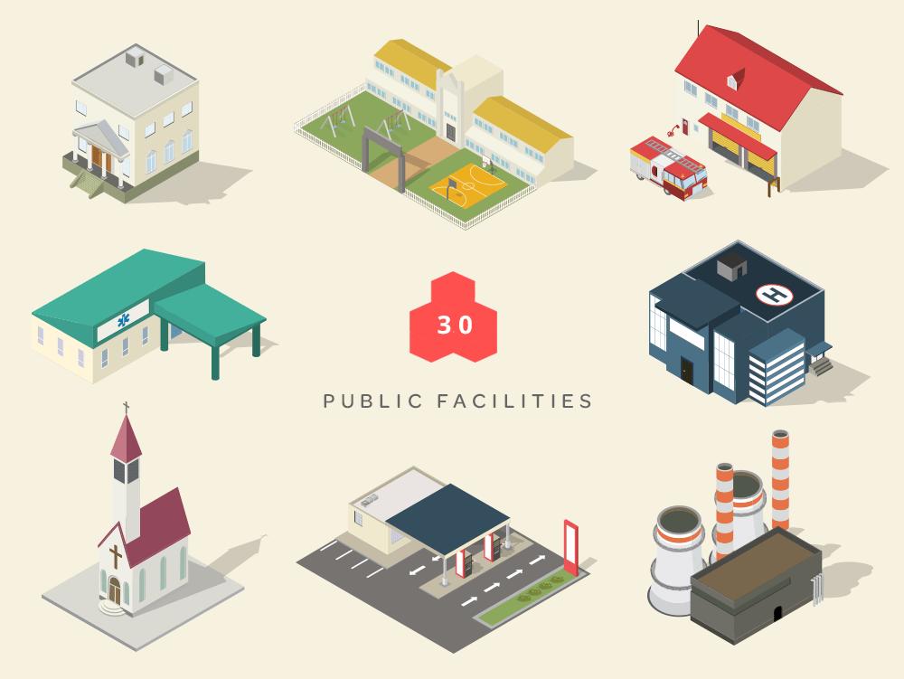 isometric maps public facilities